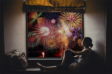 仲間と楽しくホテルの一室から隅田川花火を鑑賞しましょう。
