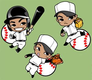かわいい野球選手たち