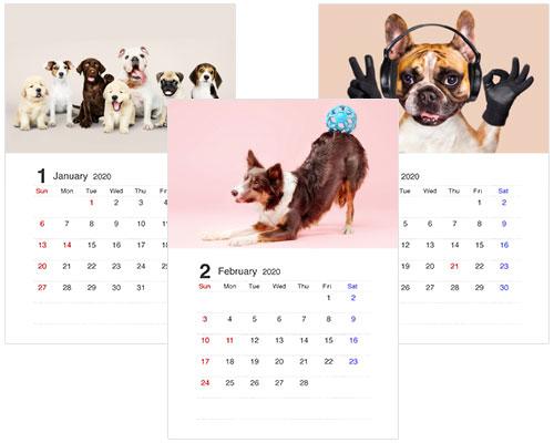 かわいいA4カレンダーの無料ダウンロード先2