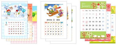 かわいいA4カレンダーの無料ダウンロード先5