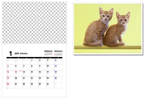 写真フレームカレンダーで自作