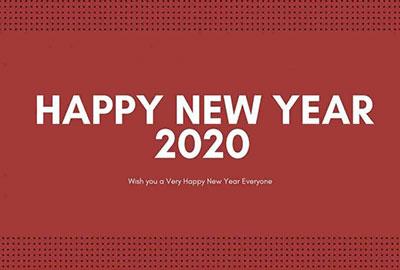 海外の壁紙 New Year 2020