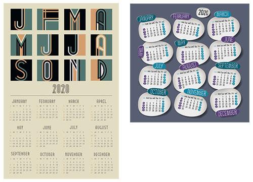 お洒落なA4カレンダーの無料ダウンロード先5