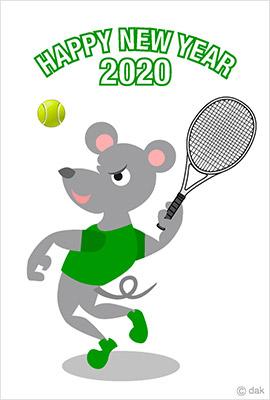 ネズミとテニス