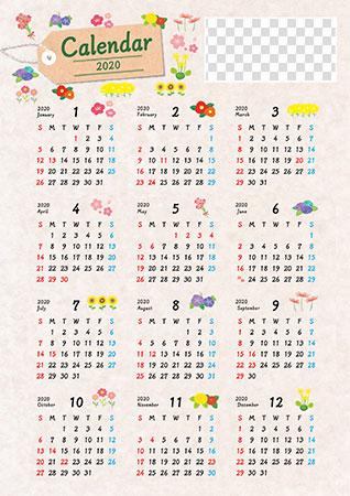 年間カレンダー2020 無料ダウンロードスケジュール管理に