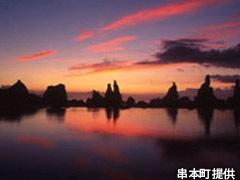 橋杭岩からのご来光景色
