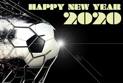 作成したサッカーイラスト年賀状