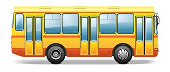 現地までバスで向かうのがおすすめ